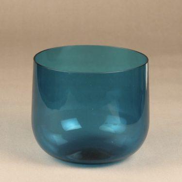 Riihimäen lasi Harlekiini salad bowl, blue, designer Nanny Still