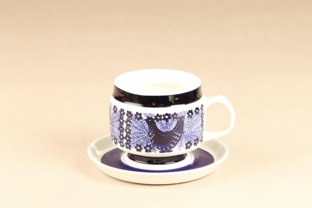 Arabia Sinilintu cup and saucer, 50 cl, Raija Uosikkinen,