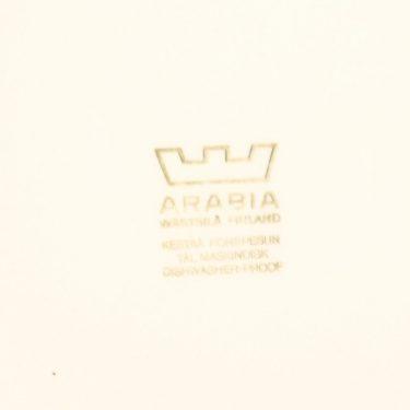 Arabia Kartano lautanen, mustavalkoinen, suunnittelija Esteri Tomula, painettu ja maalattu kuva 2