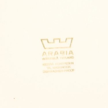 Arabia Kartano plate, black&white, Esteri Tomula, 2