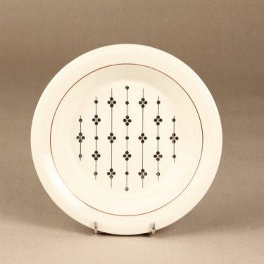 Arabia Kartano lautanen, syvä, suunnittelija Esteri Tomula, syvä, painettu ja maalattu