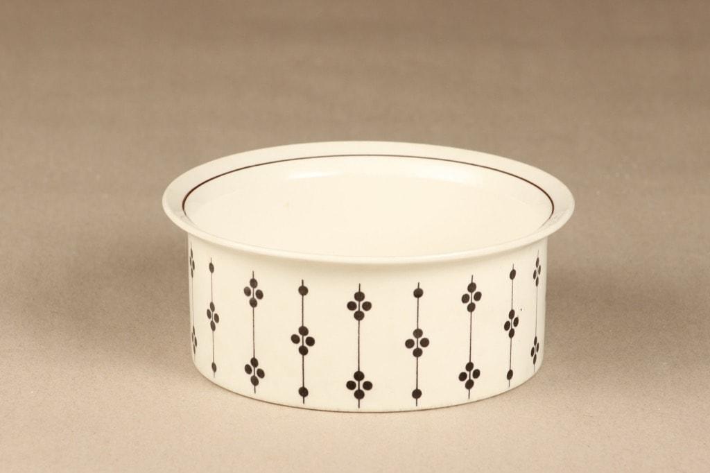 Arabia Kartano bowl, black and white, designer Esteri Tomula, printed and painted