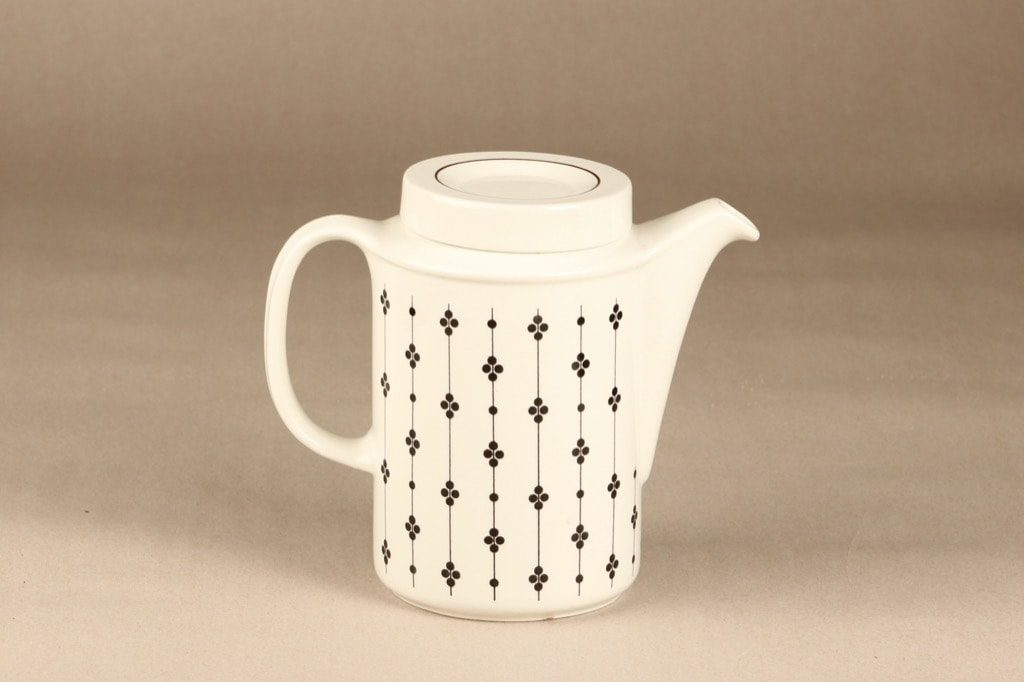 Arabia Kartano coffee pot, 1 l, designer Esteri Tomula, printed and painted