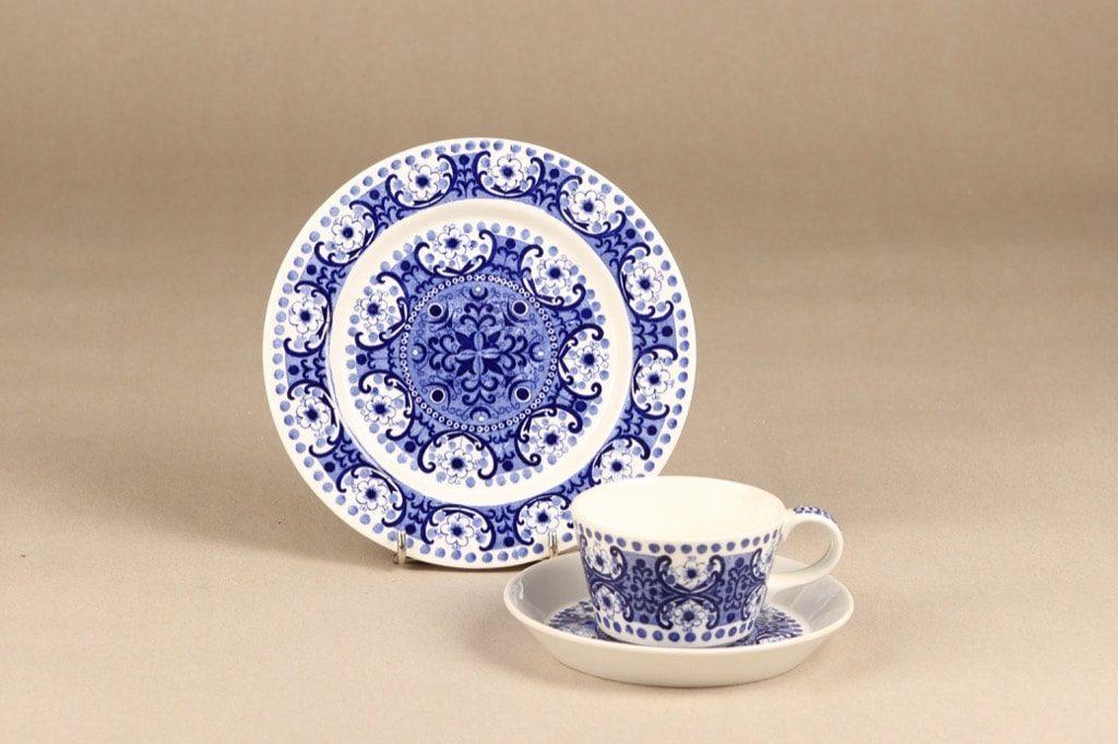 Arabia Ali kahvikuppi, sininen, suunnittelija Raija Uosikkinen, kuparipainokoriste