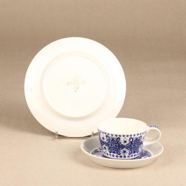 Arabia Ali kahvikuppi, sininen, suunnittelija Raija Uosikkinen, kuparipainokoriste kuva 2
