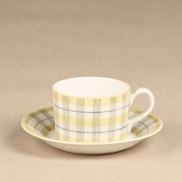 Arabia Verkko coffee cup, yellow, Esteri Tomula