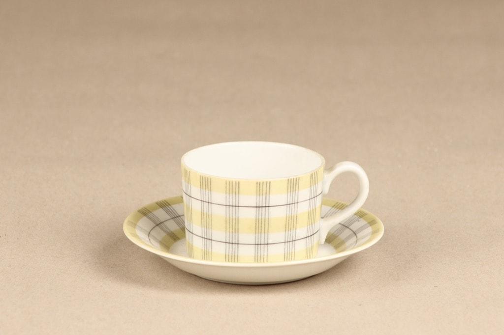 Arabia Verkko coffee cup, yellow, Esteri Tomula