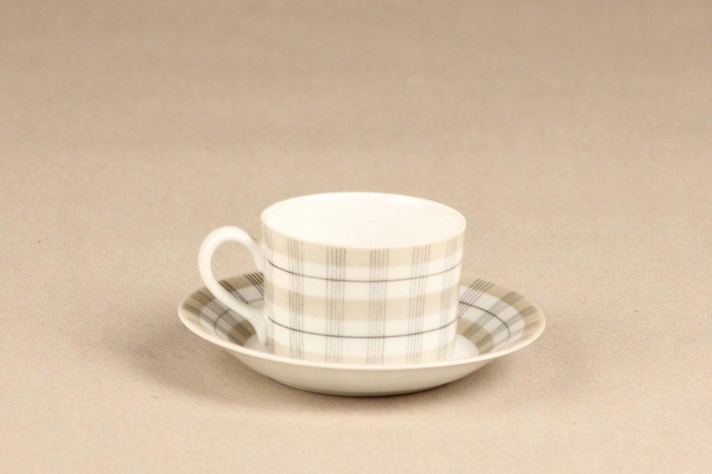 Arabia Verkko kahvikuppi, harmaa, suunnittelija Esteri Tomula, käsinmaalattu