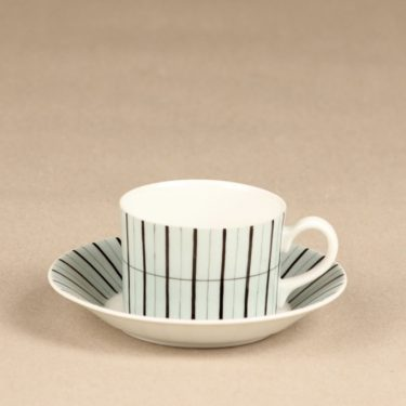 Arabia TM kahvikuppi, suunnittelija Esteri Tomula, käsinmaalattu