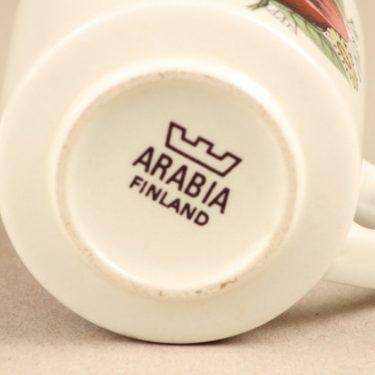 Arabia Valmu kahvikuppi, 2 kpl, suunnittelija Esteri Tomula, serikuva, kukka-aihe kuva 2