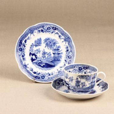 Arabia Singapore teekuppi, sininen, suunnittelija , kuparipainokoriste