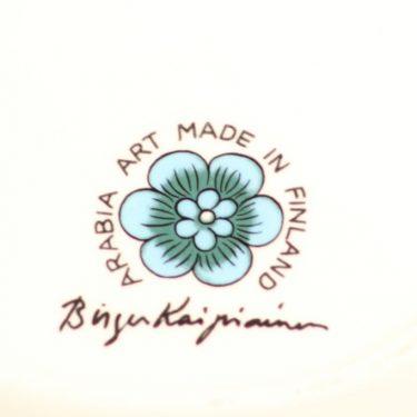 Arabia BK koristelautanen, sininen, suunnittelija Birger Kaipiainen, lysteri, signeerattu kuva 2