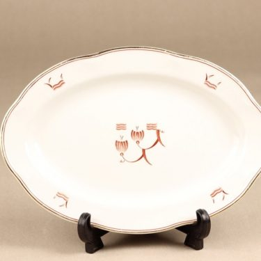 Arabia Terttu platter, oval, printed decoration, art deco