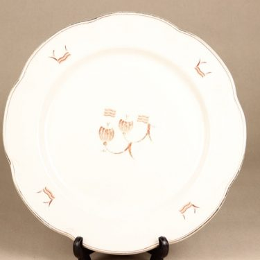 Arabia Terttu platter, round, printed decoration, art deco
