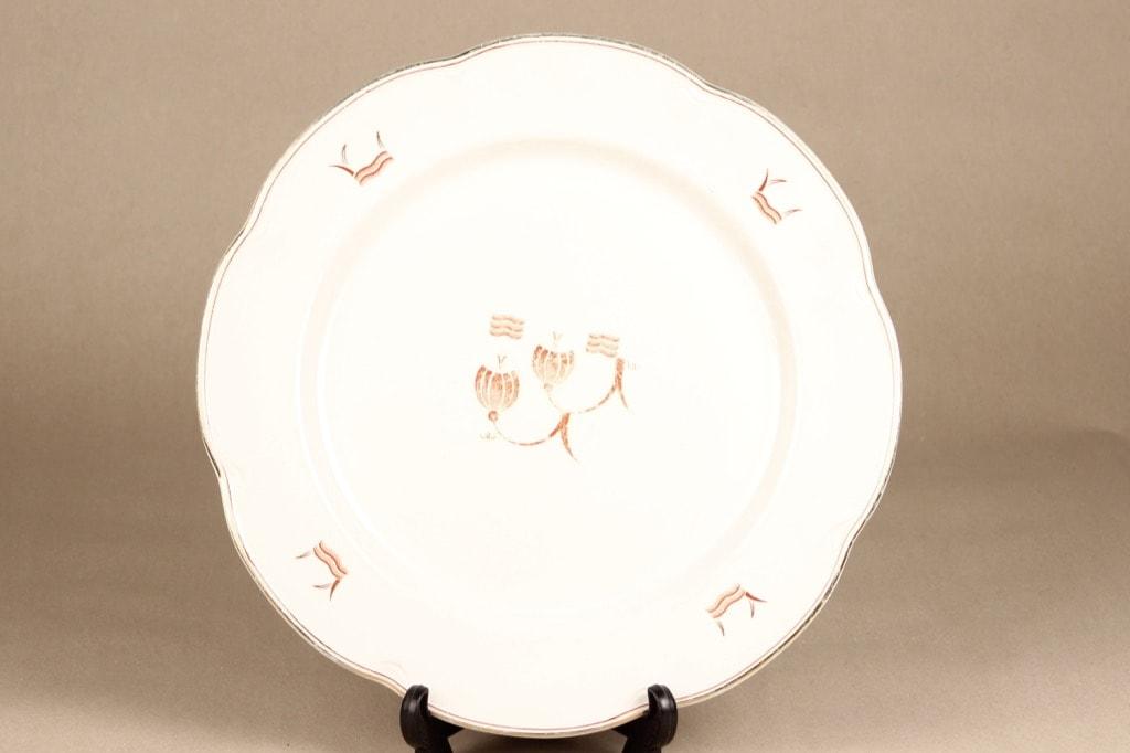 Arabia Terttu platter, round, printed decoration, art deco