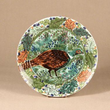 Arabia Pro Arte Hubertus lautanen, Fasaani, suunnittelija Dorrit von Fieandt, Fasaani, serikuva, käsinmaalattu