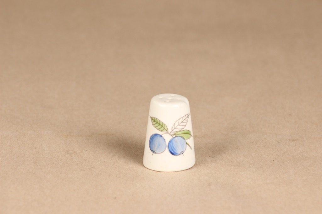 Arabia marja shaker, hand-painted, designer Esteri Tomula, blueberry