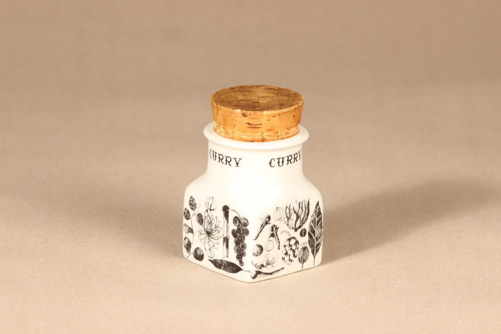 Arabia Spice jar Curry designer Esteri Tomula
