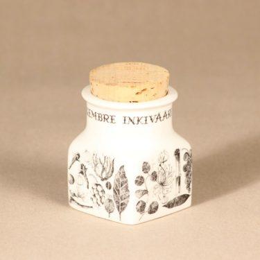 Arabia maustekuva maustepurkki, serikuva, suunnittelija Esteri Tomula,