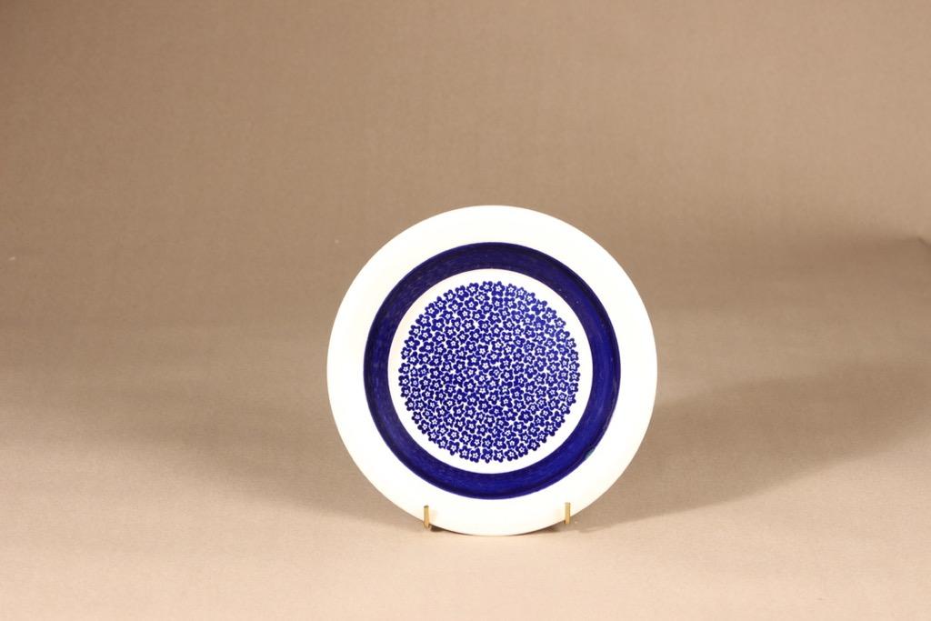 Arabia Faenza plate, flower, silk screening, designer Inkeri Seppälä