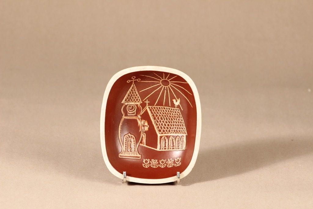 Arabia Tarina kulho, ruskea|valkoinenArabian taideosasto, suunnittelija ,