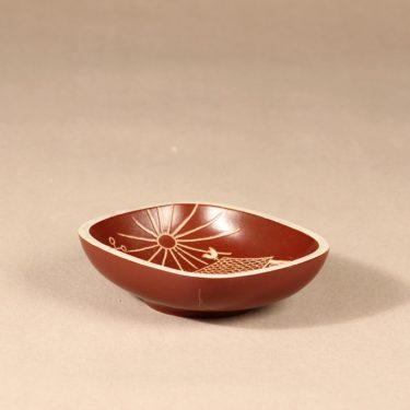 Arabia Tarina kulho, ruskea|valkoinenArabian taideosasto, suunnittelija ,  kuva 2