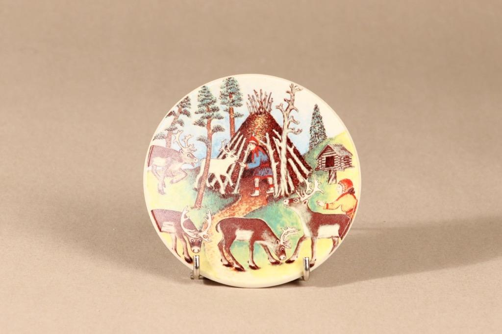 Arabia wall plate Reindeer herder  in summer design Andreas Alariesto,