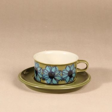 Arabia   teekuppi, käsinmaalattu, suunnittelija Hilkka-Liisa Ahola,