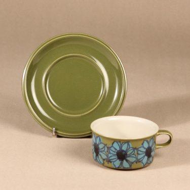 Arabia   teekuppi, käsinmaalattu, suunnittelija Hilkka-Liisa Ahola,  kuva 2