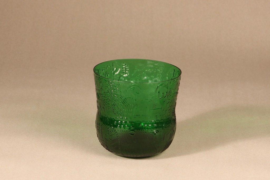 Nuutajärvi Fauna bowl, green, designer Oiva Toikka