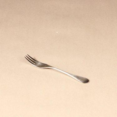 Hackman Mango dessert fork, silver color, designer Nanny Still