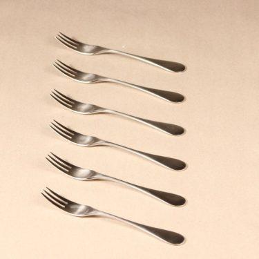 Hackman Mango dessert fork, silver color, 6 pcs