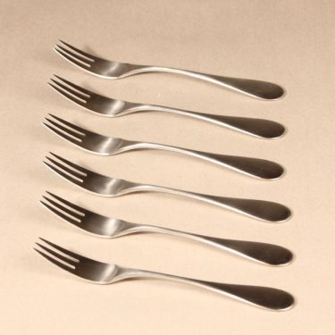 Hackman Mango forks, silver-colored 6 pcs