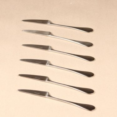 Hackman Mangodessert  knife, silver color, 6 pcs