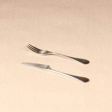 Hackman Mango jälkiruokahaarukka ja -veitsi, hopeanvärinen, 2 kpl