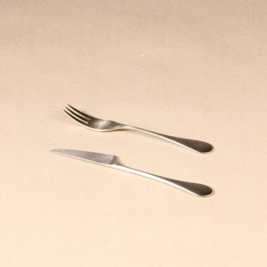 Hackman Mango dessert fork and knife, silver color, 2 pcs