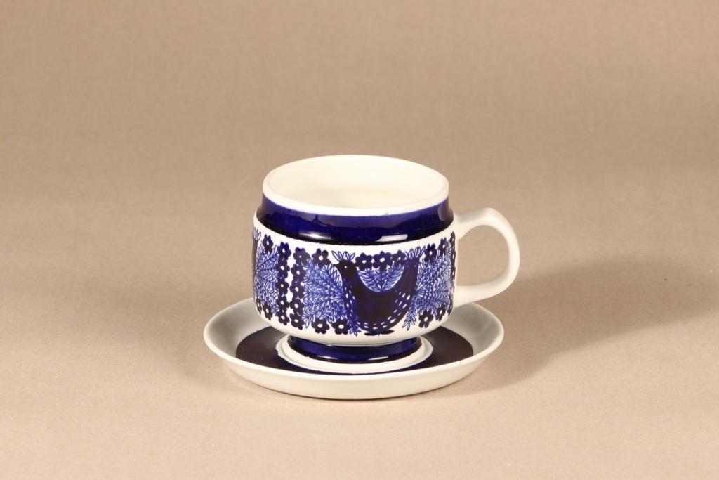 Arabia Sinilintu tea cup, copper weight ornament, 50 cl, Raija Uosikkinen,