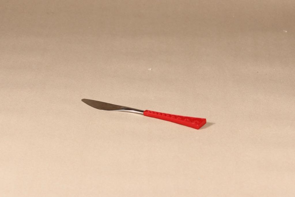 Hackman Colorina veitsi, punainen, teräs, suunnittelija Nanny Still,