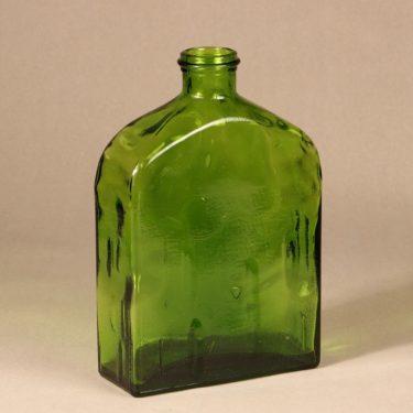 Riihimäen lasi Lankkupullo pullo, vihreä, suunnittelija Helena Tynell, suuri