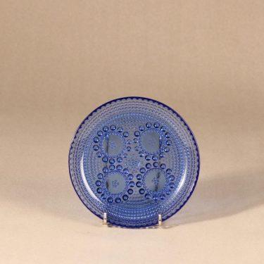 Riihimäen Lasi Grapponia lautanen, sininen, suunnittelija Nanny Still,