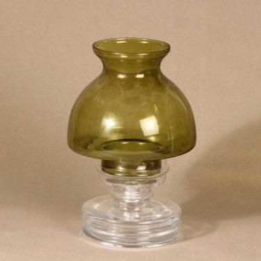 Riihimäen Lasi Apollo kynttilälyhty, kirkas|vihreä, suunnittelija Nanny Still,