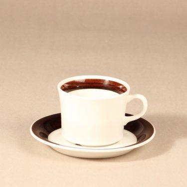 Arabia Inari teekuppi, valkoinen, suunnittelija Göran Bäck,
