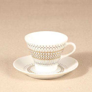Arabia Kruunu kahvikuppi ja lautaset, 15 cl, 3 kpl, suunnittelija Raija Uosikkinen, 15 cl, serikuva kuva 2