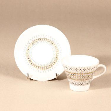 Arabia Kruunu coffee cup, saucer and plate, 15cl, Raija Uosikkinen, 3