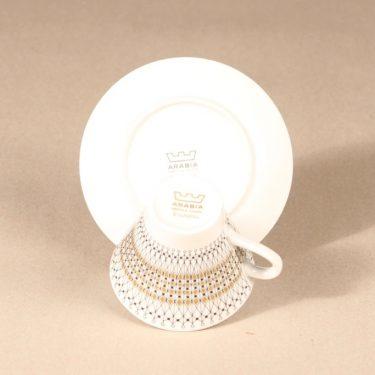 Arabia Kruunu coffee cup, saucer and plate, 15cl, Raija Uosikkinen, 4
