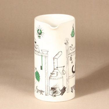 Arabia Löyly jug, hand-painted, designer Gunvor Olin-Grönqvist, signed, 2
