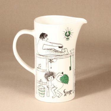 Arabia Löyly jug, hand-painted, designer Gunvor Olin-Grönqvist, signed, 3