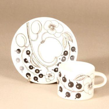 Arabia Paratiisi tea cup, black and white, Birger Kaipiainen, 2