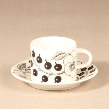 Arabia Paratiisi kahvikuppi  , mustavalkoinen, suunnittelija Birger Kaipiainen, serikuva, 0,2 l