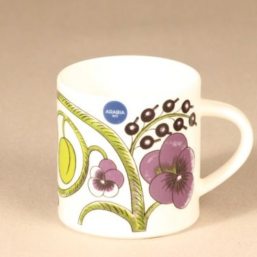 Arabia Paratiisi mug, colorful, designer Birger Kaipiainen, silk screening, 0,35 l